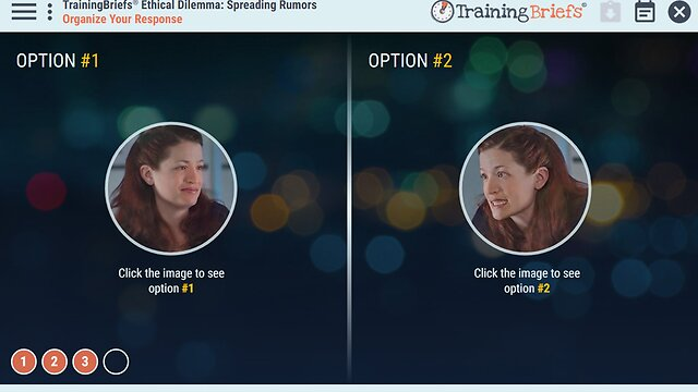 TrainingBriefs™ Ethical Dilemma - Spreading Rumors