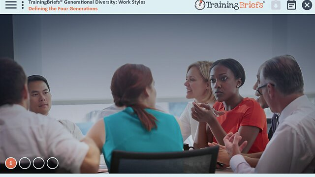 TrainingBriefs® Generational Diversity: Work Styles