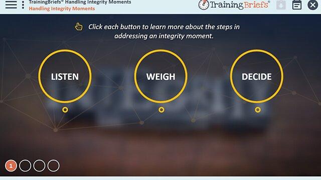 TrainingBriefs® Handling Integrity Moments