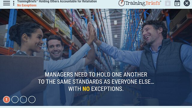 TrainingBriefs® Holding Others Accountable for Retaliation