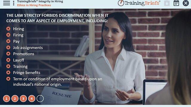 TrainingBriefs® Integrity in Hiring