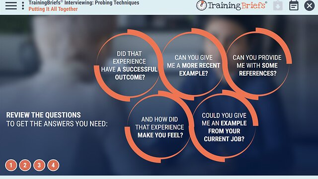 TrainingBriefs® Interviewing: Probing Techniques