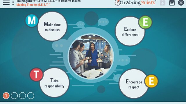 TrainingBriefs® Let's M.E.E.T.™ to Resolve Issues