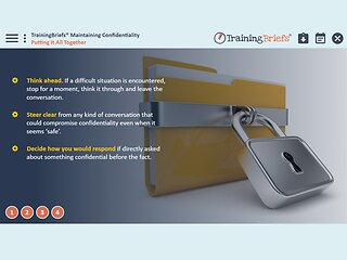 TrainingBriefs™ Maintaining Confidentiality
