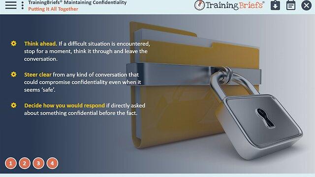 TrainingBriefs™ Maintaining Confidentiality