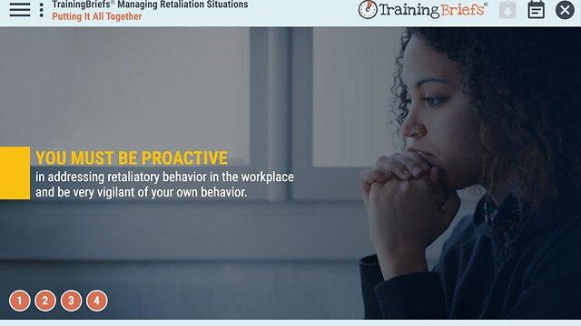 TrainingBriefs® Managing Retaliation Situations