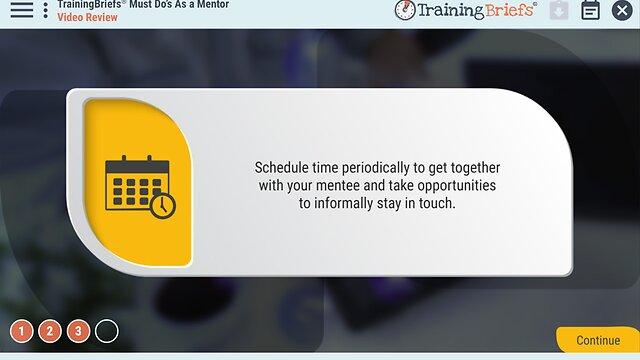 TrainingBriefs® Must Do's As a Mentor