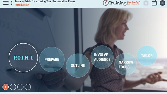 TrainingBriefs® Narrowing Your Presentation Focus