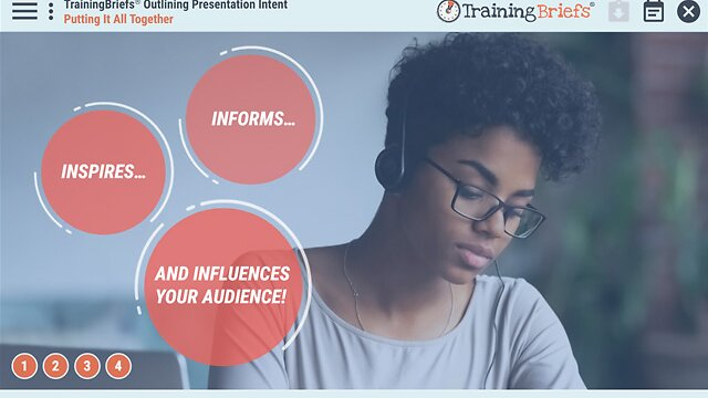 TrainingBriefs® Outlining Presentation Intent