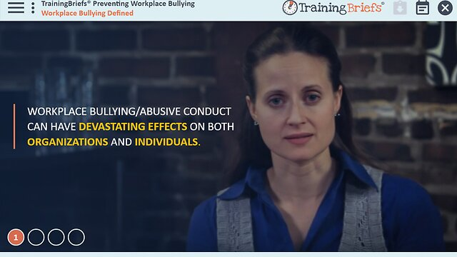 TrainingBriefs™ Preventing Workplace Bullying