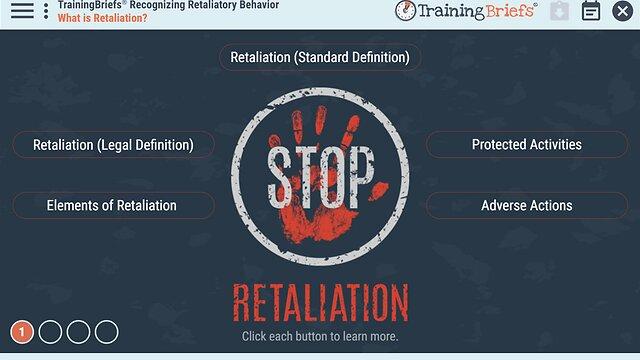 TrainingBriefs® Recognizing Retaliatory Behavior