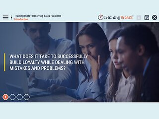 TrainingBriefs™ Resolving Sales Problems