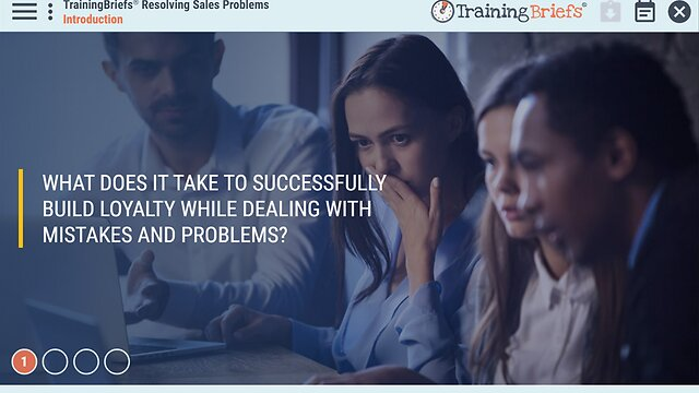 TrainingBriefs® Resolving Sales Problems
