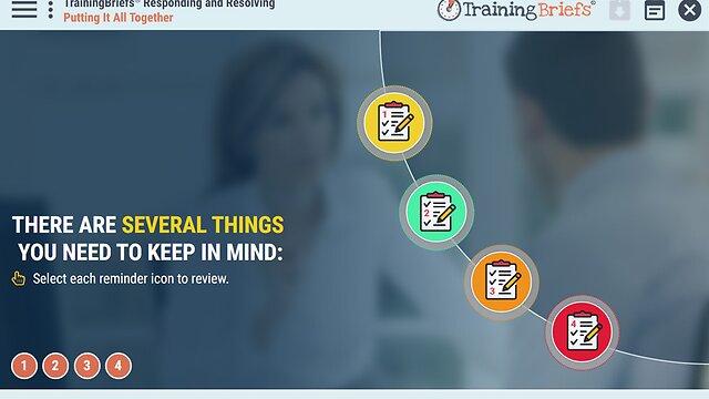 TrainingBriefs® Responding and Resolving