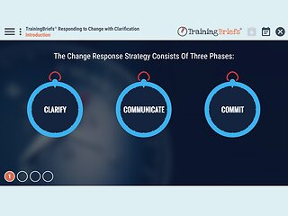 TrainingBriefs™ Responding to Change with Clarification