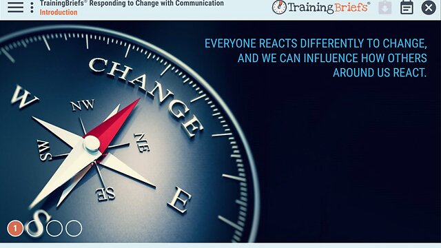 TrainingBriefs® Responding to Change with Communication