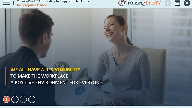 TrainingBriefs® Responding to Inappropriate Humor