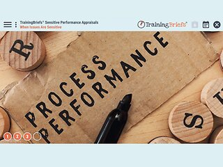 TrainingBriefs® Sensitive Performance Appraisals