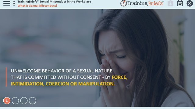 TrainingBriefs® Sexual Misconduct in the Workplace