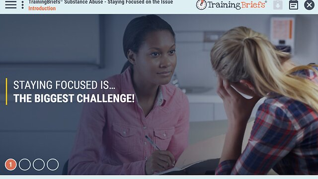 TrainingBriefs® Substance Abuse - Staying Focused on the Issue