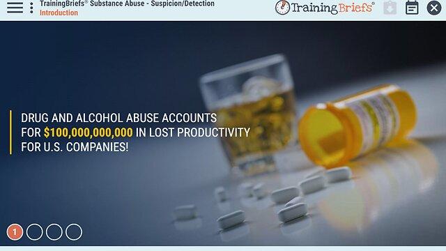 TrainingBriefs® Substance Abuse - Suspicion/Detection