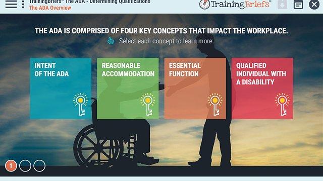 TrainingBriefs™ The ADA - Determining Qualifications