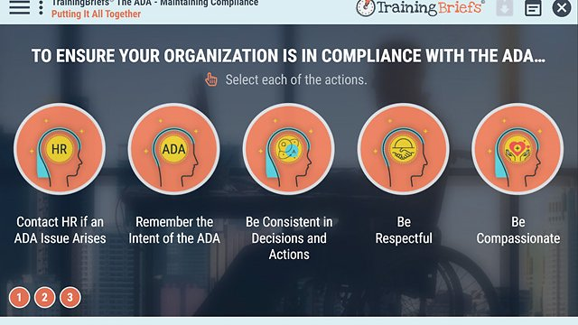 TrainingBriefs™ The ADA - Maintaining Compliance