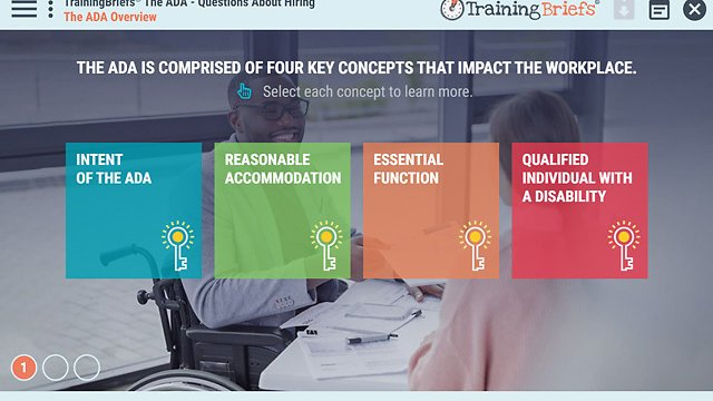 TrainingBriefs™ The ADA - Questions About Hiring