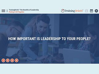 TrainingBriefs® The Benefits of Leadership