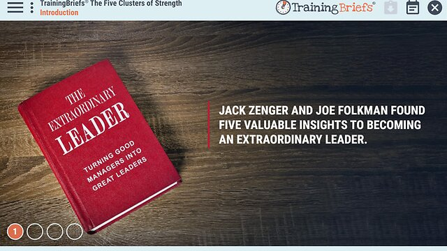 TrainingBriefs™ The Five Clusters of Strength