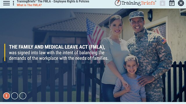 TrainingBriefs® The FMLA - Employee Rights & Policies