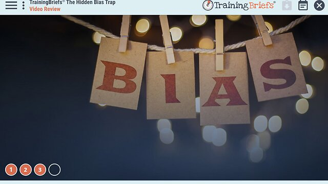TrainingBriefs® The Hidden Bias Trap