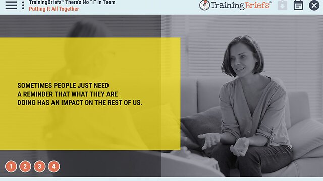 "TrainingBriefs™ There's No ""I"" in Team"