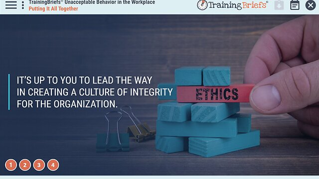 TrainingBriefs™ Unacceptable Behavior in the Workplace