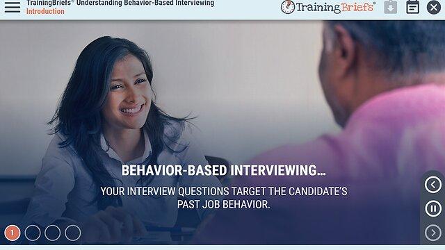 TrainingBriefs™ Understanding Behavior-Based Interviewing