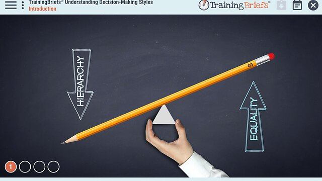 TrainingBriefs® Understanding Decision-Making Styles