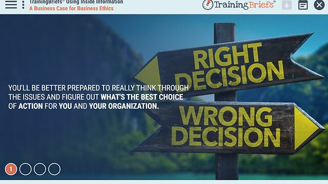 TrainingBriefs® Using Inside Information