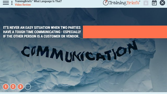 TrainingBriefs® What Language Is That?
