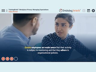 TrainingBriefs® Workplace Privacy: Managing Expectations