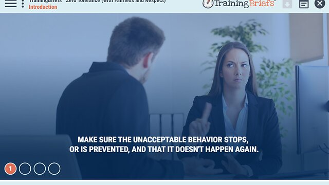 TrainingBriefs™ Zero Tolerance (with Fairness and Respect)