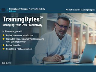 TrainingBytes® Managing Your Own Productivity (eLearning)
