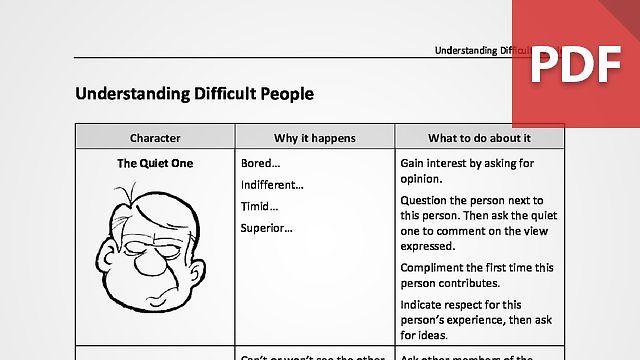 Understanding Difficult People