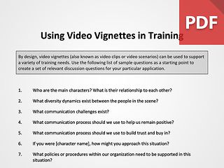 Using Video Vignettes in Training