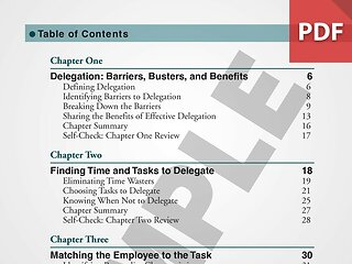 You Can't Do It All: Effective Delegation for Supervisors (How-To Book)